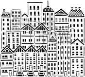 """City Buildings - Crafter's Workshop Template 12""""X12"""""""