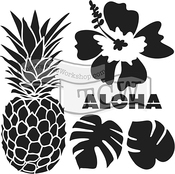 """Aloha - Crafter's Workshop Template 12""""X12"""""""
