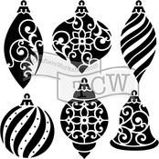 "Ornaments - Crafter's Workshop Template 6""X6"""