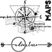 "Wanderlust - Crafter's Workshop Template 6""X6"""