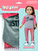 Pink & Grey - Springfield Collection Be Strong Shirt & Stripe Pants