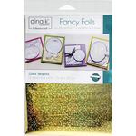 """Gold Sequins - Gina K Designs Fancy Foil 6""""X8"""" 12/Pkg"""
