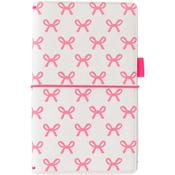 "Pink Bows - Freckled Fawn Pocket Traveler's Notebook 9""X5.75"""