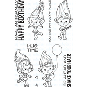 """Insanely Happy - Your Next Stamp Clear Stamps 4""""X6"""""""