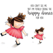 """Happy Dance Squidgy - Stamping Bella Squidgy Cling Stamp 6.5""""X4.5"""""""