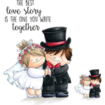 """Love Story Squidgy - Stamping Bella Squidgy Cling Stamp 6.5""""X4.5"""""""
