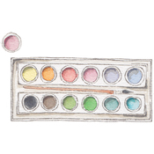 Circle Palette W/Large Brush - Stamping Bella Danielle's Rubber Stamps