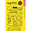 "Stay Cool - Waffle Flower Crafts Clear Stamps 4""X6"""