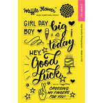 """Big Day - Waffle Flower Crafts Clear Stamps 4""""X6"""""""