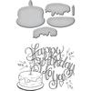 Happy Birthday Cake - Spellbinders Stamp & Die Set By Tammy Tutterow