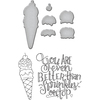 Ice Cream Cone - Spellbinders Stamp & Die Set By Tammy Tutterow