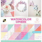 "Watercolor Ombre, 12 W/Pearl Foil - DCWV Double-Sided Paper Stack 12""X12"" 36/Pkg"