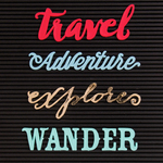 Travel - DCWV Letterboard Words