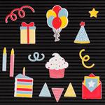Celebration - DCWV Letterboard Icons