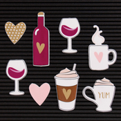 Coffee & Wine - DCWV Letterboard Icons