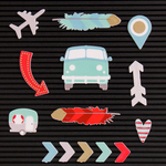 Travel - DCWV Letterboard Icons
