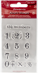 "Numbers - Stamperia Clear Stamp 2.5""X4"""