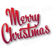 Merry Christmas-Small Dies - Dee's Distinctively Dimensional Dies