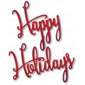 Festive Happy Holidays - Dee's Distinctively Dies