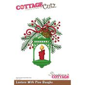 Lantern With Pine Boughs - CottageCutz Die