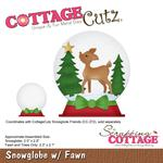Snowglobe With Fawn - CottageCutz Die