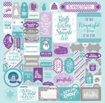 Frosty Winter Details Stickers - Authentique