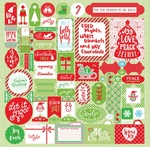 Jolly Christmas Details Stickers - Authentique