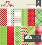 Jolly Christmas 12 x 12 Paper Pad - Authentique