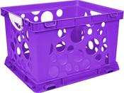 "Purple - Premium Classroom File Crate W/Handles 17.25""X14.25""X10.5"""