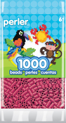 Cherry - Perler Striped Beads 1,000/Pkg