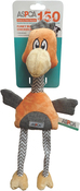 Orange - ASPCA Funky Burlap Chicken Dog Toy