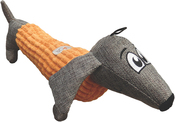Orange - ASPCA Burlap & Pixel Dachshund Dog Toy