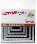 Scallop Square - CottageCutz Nested Dies 5/Pkg
