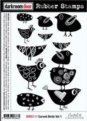 """Carved Birds Vol. 1 - Darkroom Door Cling Stamps 7""""X5"""""""