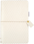 """Gold Polka Dots - Color Crush Faux Leather Travelers' Planner 5.75""""X8"""""""