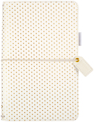 "Gold Polka Dots - Color Crush Faux Leather Travelers' Planner 5.75""X8"""
