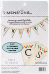 """55""""X8"""" 7/Pkg - Pennant Counted Cross Stitch Banner Kit"""