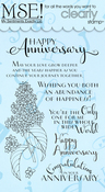"Floral Anniversary Cards - My Sentiments Exactly Clear Stamps 4""X6"" Sheet"