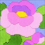 "4""X4"" 13 Count - Peony Counted Cross Stitch Kit"