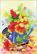 """8.25""""X11.75"""" 14 Count - Garden Watering Can Stamped Cross Stitch Kit"""