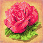 """8""""X8"""" 14 Count - Rose Stamped Cross Stitch Kit"""