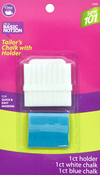 White & Blue - Dritz Sewing 101 Tailor's Chalk Pencil W/ Holder