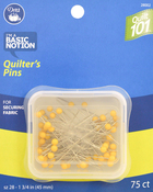 Size 28 75/Pkg - Dritz Quilt 101 Quilter's Pins