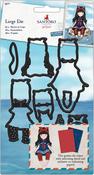 Postal Little Fishes, 9 Pieces - Gorjuss Santoro Decorative Dies