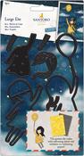 Postal Fly Away With Me, 8 Pieces - Gorjuss Santoro Decorative Dies