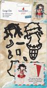 Postal Summer Days, 9 Pieces - Gorjuss Santoro Decorative Dies