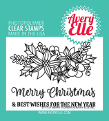 "Merry Flowers - Avery Elle Clear Stamp Set 4""X3"""
