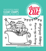 """Sledding Critters - Avery Elle Clear Stamp Set 4""""X3"""""""