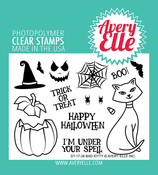 """Bad Kitty - Avery Elle Clear Stamp Set 4""""X3"""""""