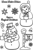 "Frosty Friends - Avery Elle Clear Stamp Set 4""X6"""